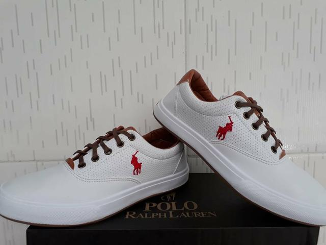 fdea4ef3c96 Sapatenis Pólo Ralph Lauren Branco - 38 ao 42 - Roupas e calçados ...