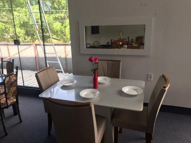 Mesa 4 Cadeiras Celebrare medida do tampo 120X80  com Espelho com Moldura - Foto 4