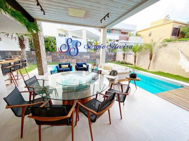Casa no Alphaville Fortaleza mobiliada e climatizada, com piscina privativa, alto padrão - Foto 3