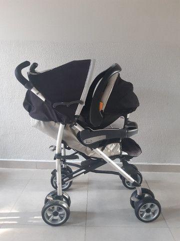 Vendo Carrinho e Bebê Conforto Chicco Trevi - Foto 2