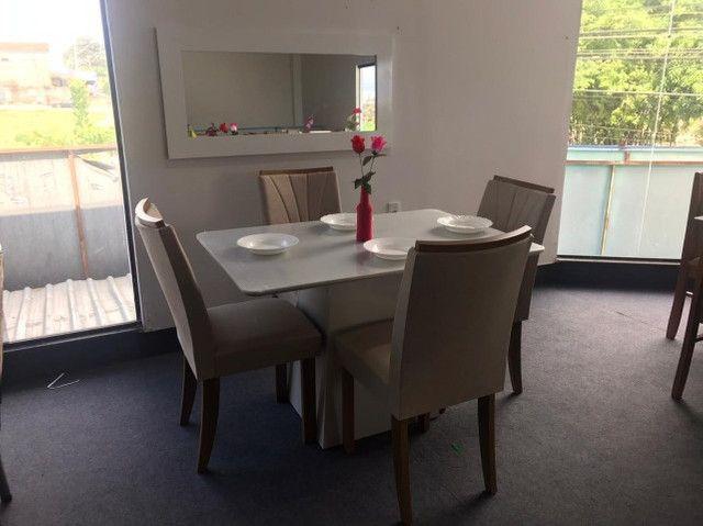 Mesa 4 Cadeiras Celebrare medida do tampo 120X80  com Espelho com Moldura - Foto 3