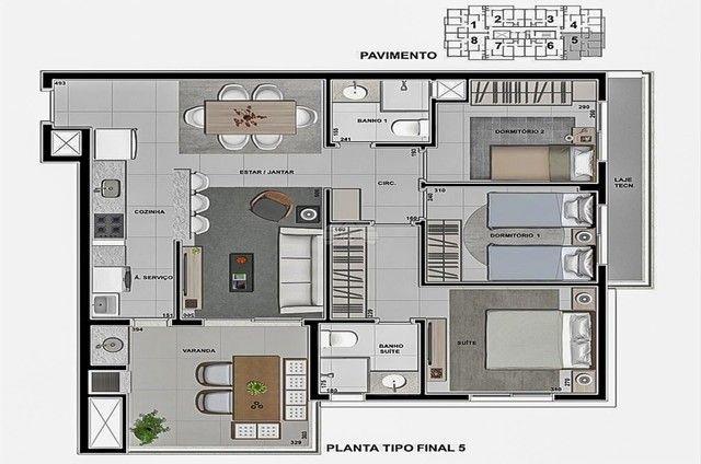 Apartamento à venda com 3 dormitórios em Caioba, Matinhos cod:155296 - Foto 12