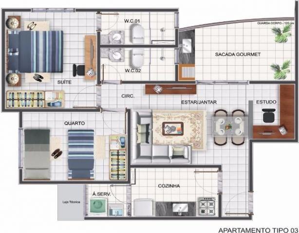 Apartamento ARNO 21 / Quadra 203 Norte - Residencial Mediterrâneo