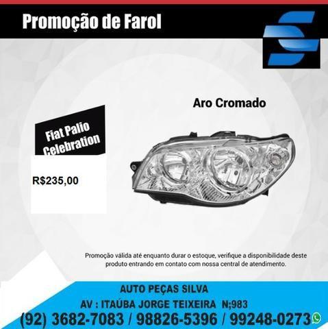 Farol Palio siena Celebration 05.Cromado Valor Unitário Original e temos outros carros tb