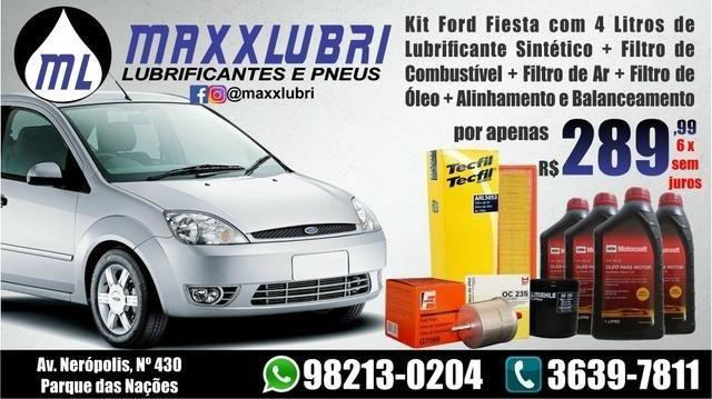 Lubrificante + Filtro de ar + Filtro de Combustível + Filtro de Óleo para Ford Fiesta