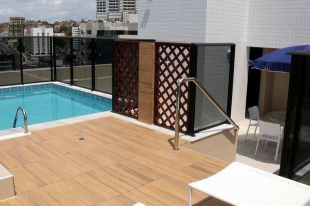 Apt novo, nascente, Jatiúca,3 quartos,1 suíte, 2 vagas, 110 m², área de lazer, só 594 mil! - Foto 8