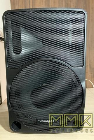 Caixa De Som Amplificada Ecopower 10 polegadas Bluetooth- Nova - Foto 2