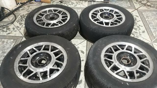 Rodas 13 snowflacke com pneus - Foto 4