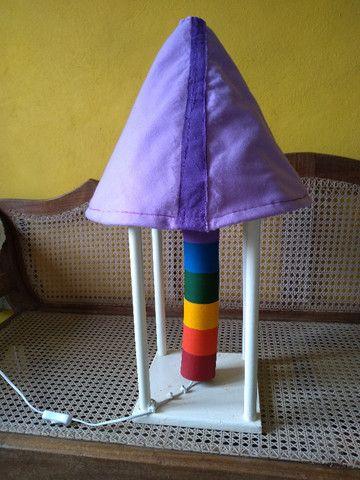 Lindo e colorido abajur artesanal - Foto 2