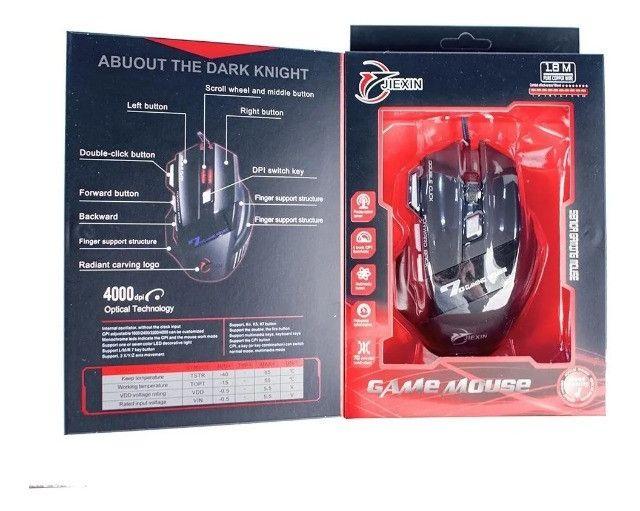 Mouse Gamer Jogos 6 Botões 4000 Dpi Botão Usb - Loja Natan Abreu - Foto 6