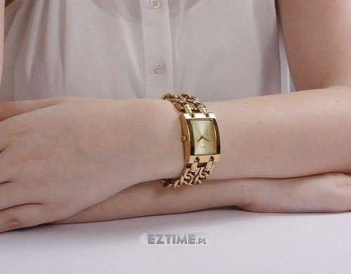 Relógio Feminino Guess 2 Correntes Dourado W0311l2 Original - Foto 3