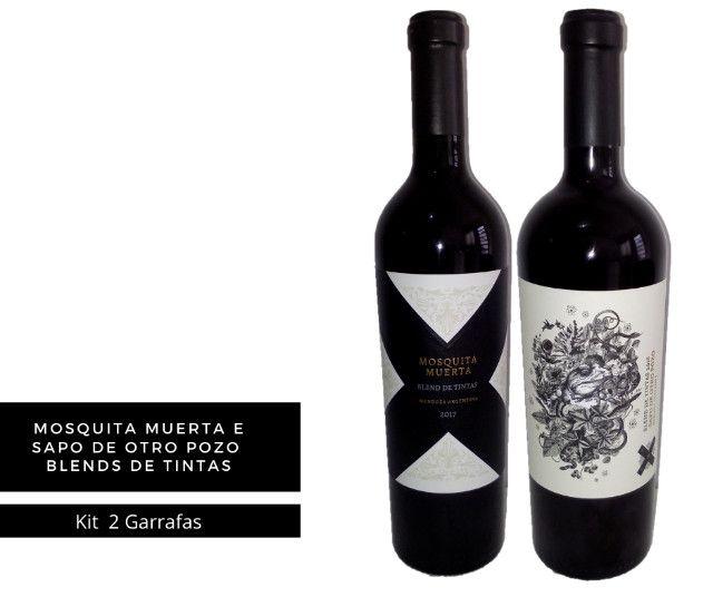 Vinhos Premium Argentinos kit 2 un. Mosquita muerta + Sapo de Otro Pozo. Blend de Tintas
