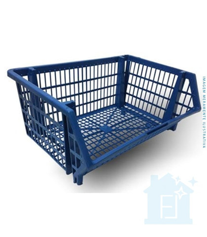 Cesto Plastico Azul 22x44x34 - Braslider