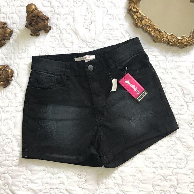 Short jeans preto código girls