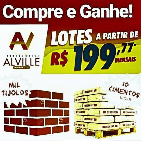 Lotes em Indiara - Construa HOJE! Parcelas 199