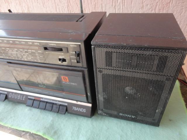 Rádio Gravador Sony Antigo Leia Campo Descrição Deste Anúnci - Foto 6