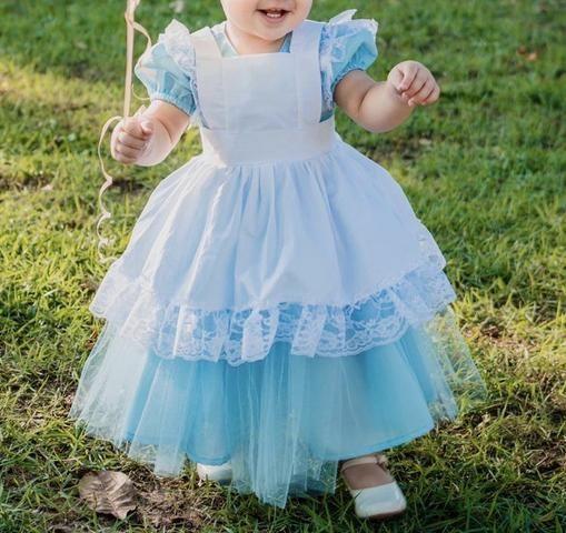 Fantasia/ vestido Alice no país das maravilhas