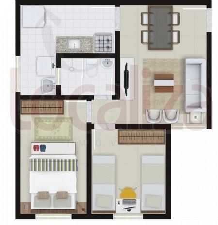 Alugo ou vendo Apartamento primeiro andar - 2/4 - Condomínio Central Park - Foto 9
