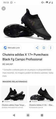 d13d60ff20ab7 Chuteira adidas X 17+ Purechaos Campo Profissional - Esportes e ...