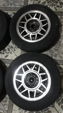 Rodas 13 snowflacke com pneus - Foto 3