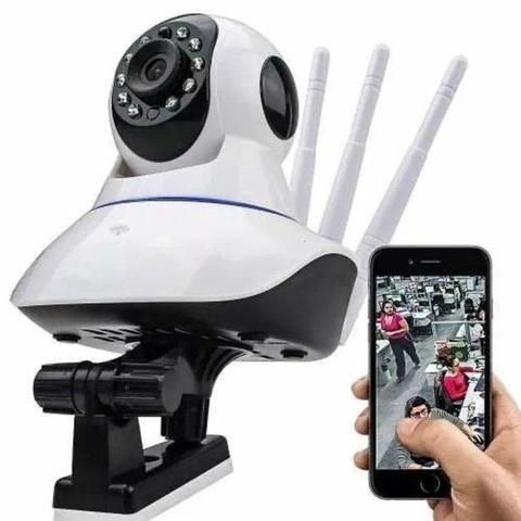 Câmera Rotativa 360° Ip Visão Noturna Wifi HD - Foto 3