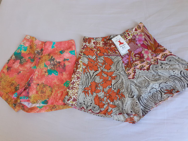 Short estampado cintura alta (P) Novos - Foto 2