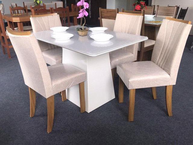 Mesa de Jantar 4 Cadeiras Celebrare medida do tampo 120X80 - Foto 4