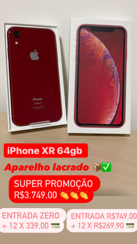 iPhone XR 64gb Cor Red Lacrado