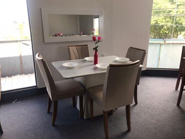Mesa 4 Cadeiras Celebrare medida do tampo 120X80  com Espelho com Moldura - Foto 2