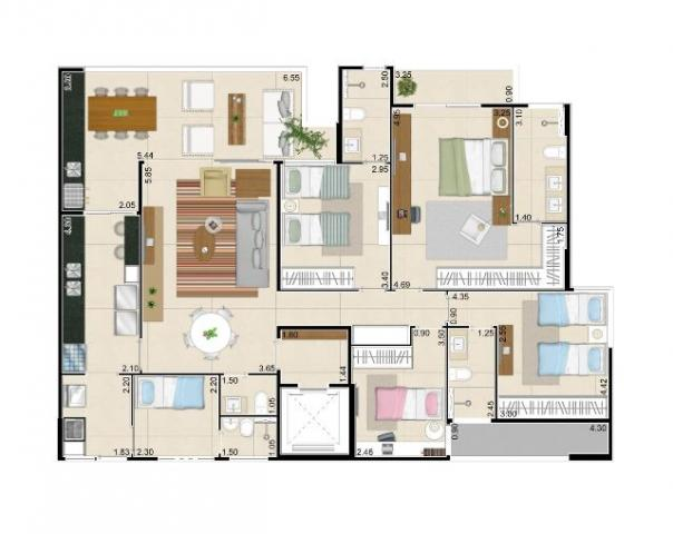 Apartamento 152,02m² Living Garden Residencial Guararapes - Foto 20