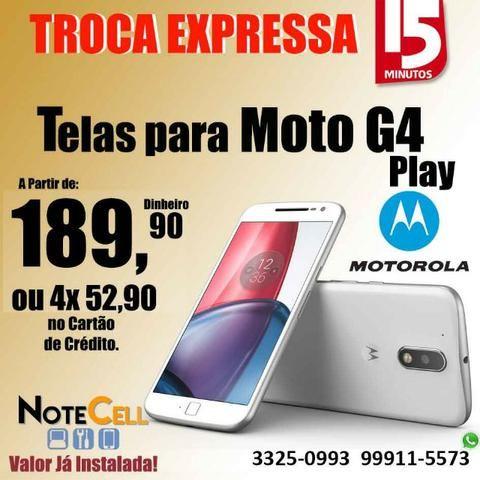 Tela para Moto G4 Play ( Display LCD ) - Instalação Imediata