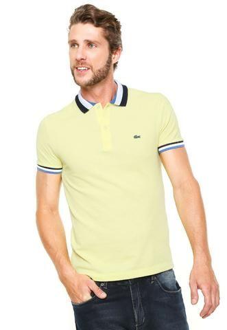 d2da576640e Camisa Polo Lacoste Slim Listra Amarela - Roupas e calçados - Centro ...