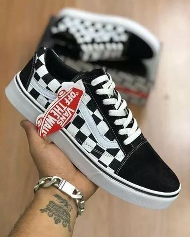 f626d6750 Tenis Vans Old Skool Skate - Xadrez Quadriculado - Roupas e calçados ...