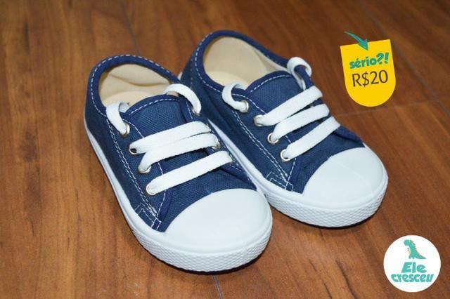 b1f97f3d6c3 Tênis Infantil Kimino Azul Tamanho  21 22 - Artigos infantis ...