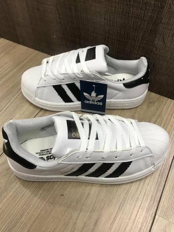 76360fe3c7 Tênis Adidas Superstar branco com preto - Roupas e calçados - Centro ...