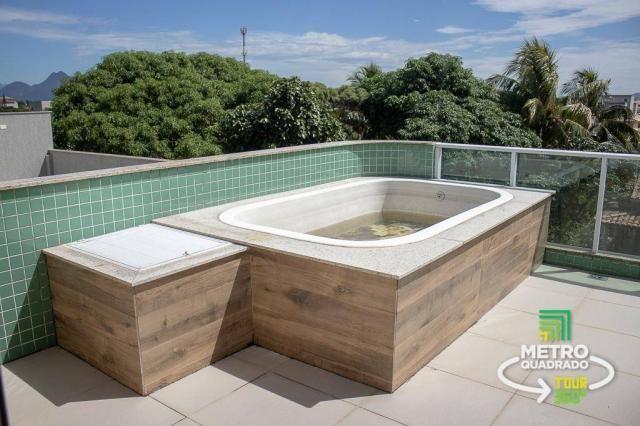 Cobertura com 4 quartos piscina e churrasqueira costa azul/rio das ostras - Foto 2