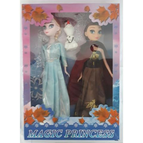 Bonecas Frozen 2 Kit Anna e Elsa Com Olaf Magic Princess - Foto 5