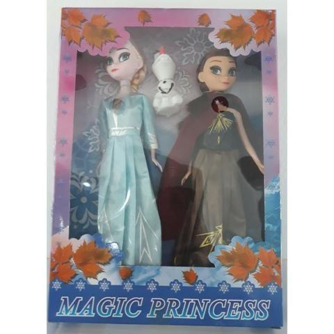 Bonecas Frozen 2 Kit Anna e Elsa Com Olaf Magic Princess - Foto 4