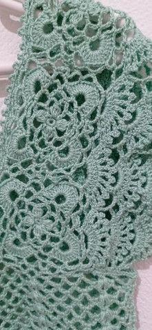 Blusa tecida em crochê - Foto 3