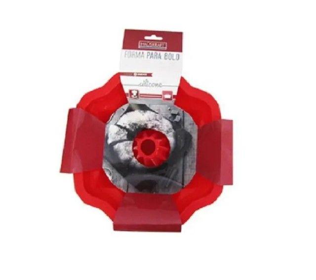 Forma de Silicone para Bolo Torta Pudim 25,5 X 10,3 CM - Foto 2