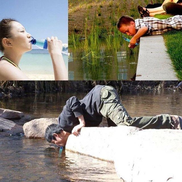 Filtro De Água Para Acampamento Portátil Trilha Viagens  - Foto 2
