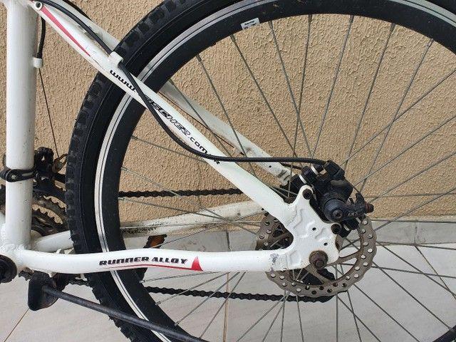 Bicicleta Aro 26 Freio Disco Fischer Runner Alloy Com Nota Fiscal - Foto 5