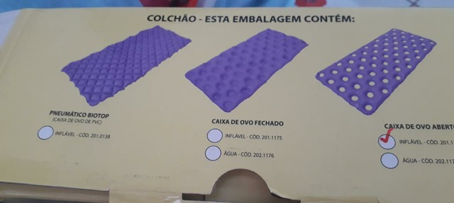 Vendo esse Colchão  orto leito inflável cx ovo 1.90 x 0.90 ABERT  - Foto 2