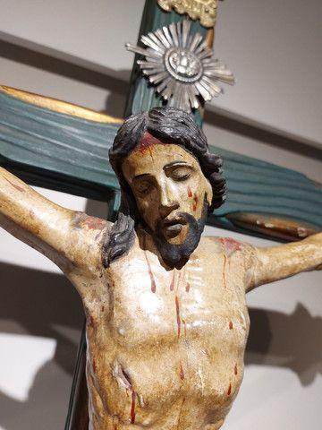 Crucifxo Antigo Cristo crucificado  - Foto 4