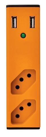 Carregador 2 portas usb c/ filtro de linha + 2 tomadas enermax- ananindeua aurá - Foto 2