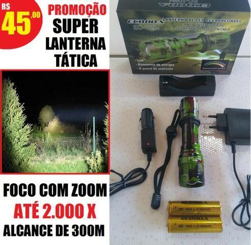 Promoção super Lanterna Tática Swat 300 metros 2 baterias (entrega grátis)