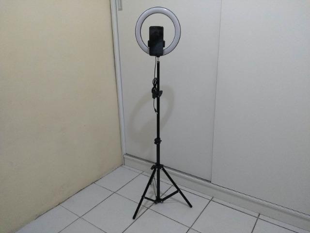 Ring Light 26cm + Tripé 1,60m + Tripé de mesa Entrega Grátis - Foto 6