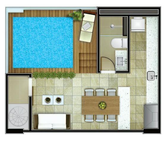 Apartamento em Ponta Negra - 40m² e Cobertura de 80m? - Vida Calma - Foto 15