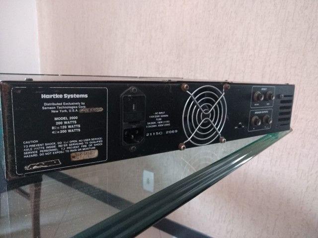 Amplicador Hartke model 2000 + Caixa - Foto 3