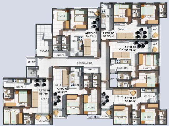 Apartamento com Elevador, Área de lazer, bem localizado no Bairro do Cristo Redentor - Foto 10